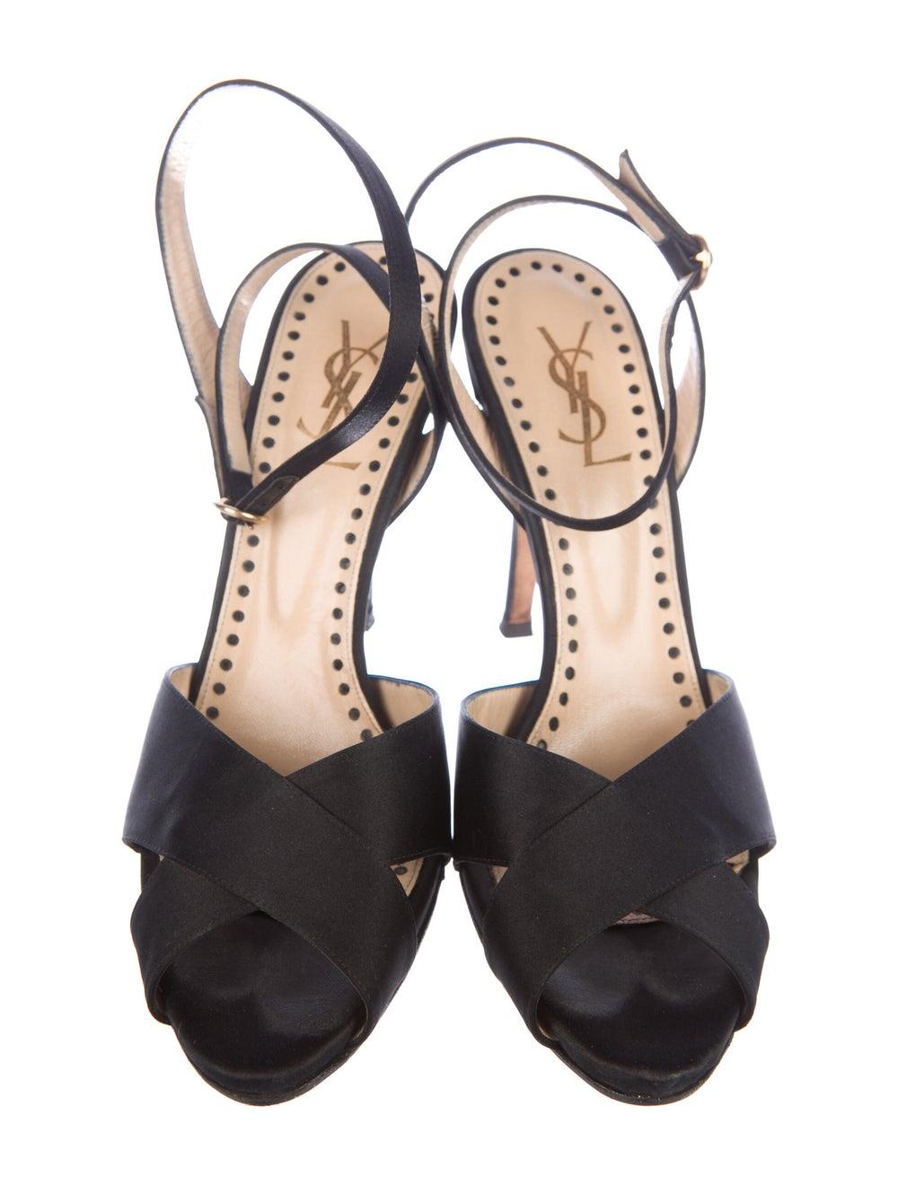 Yves Saint Laurent Rive Gauche Sandals Black - image 3
