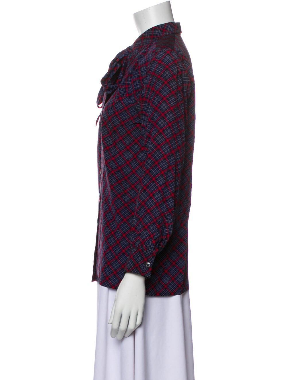 Yves Saint Laurent Rive Gauche Vintage Silk Blous… - image 2