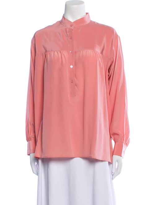 Yves Saint Laurent Rive Gauche Vintage Silk Blous… - image 1