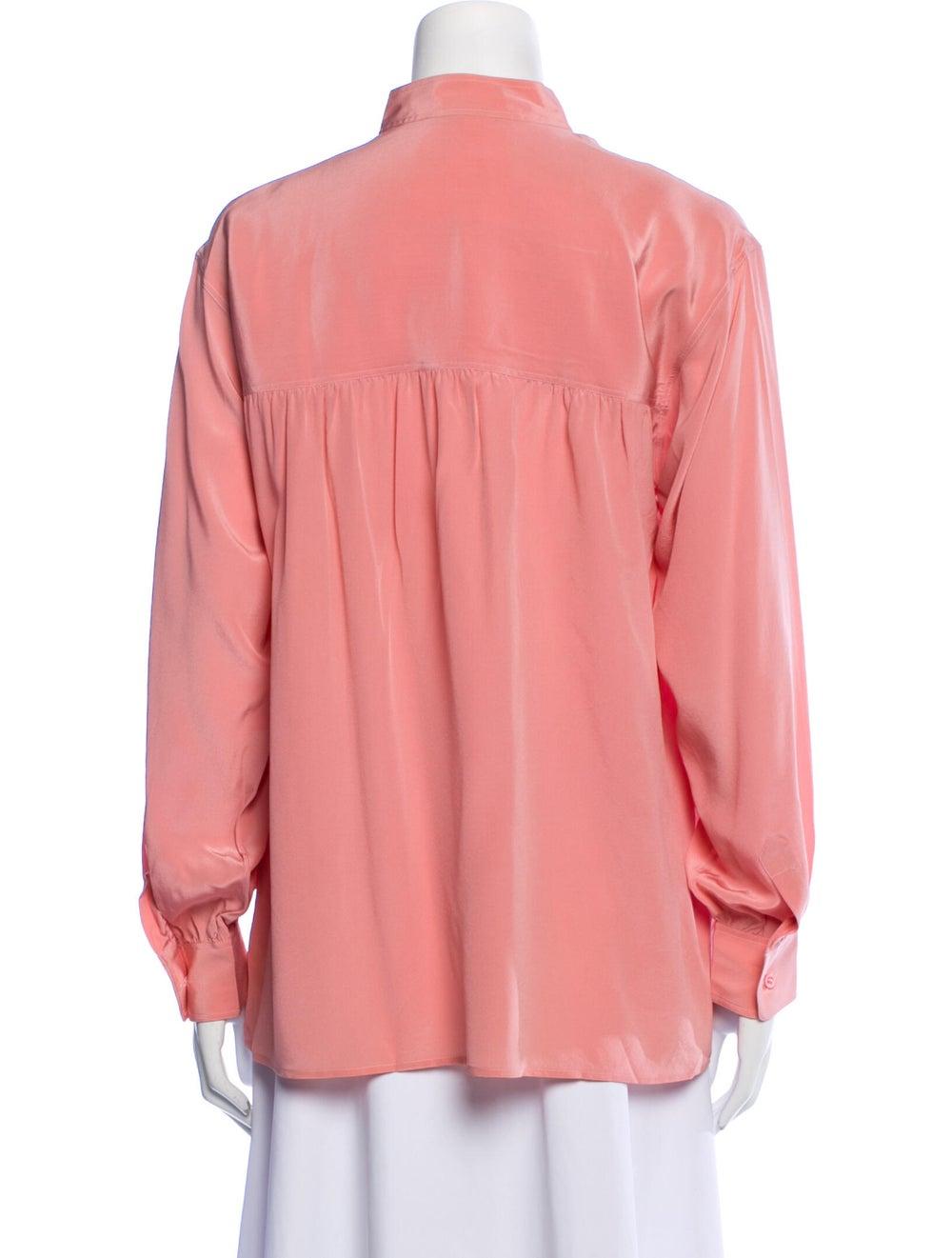 Yves Saint Laurent Rive Gauche Vintage Silk Blous… - image 3