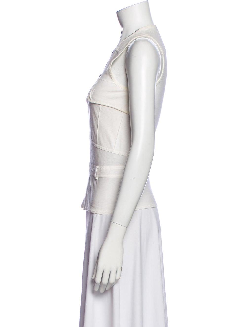 Yves Saint Laurent Rive Gauche V-Neck Sleeveless … - image 2