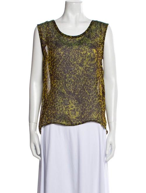 Yves Saint Laurent Rive Gauche Vintage Silk Top G… - image 1