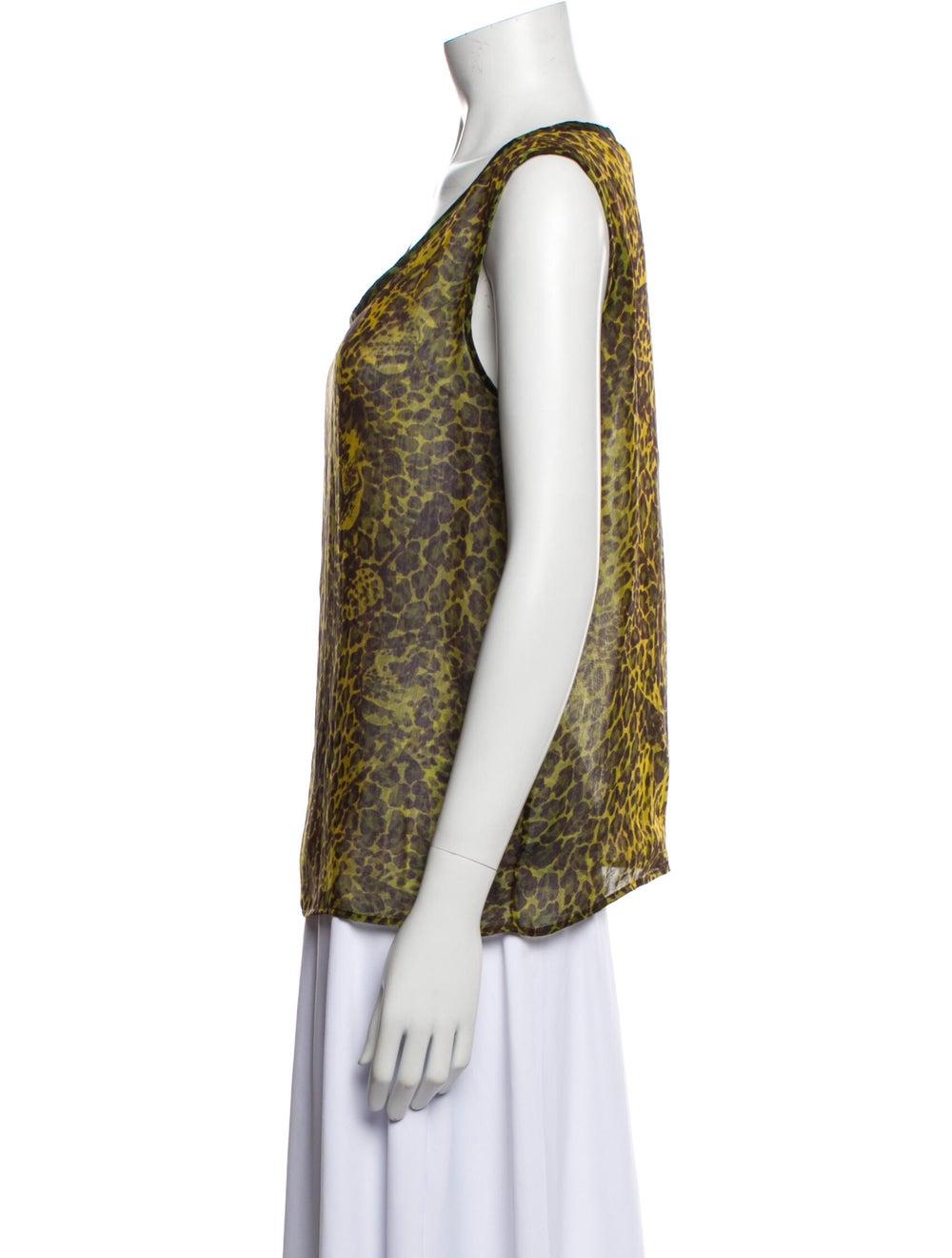 Yves Saint Laurent Rive Gauche Vintage Silk Top G… - image 2