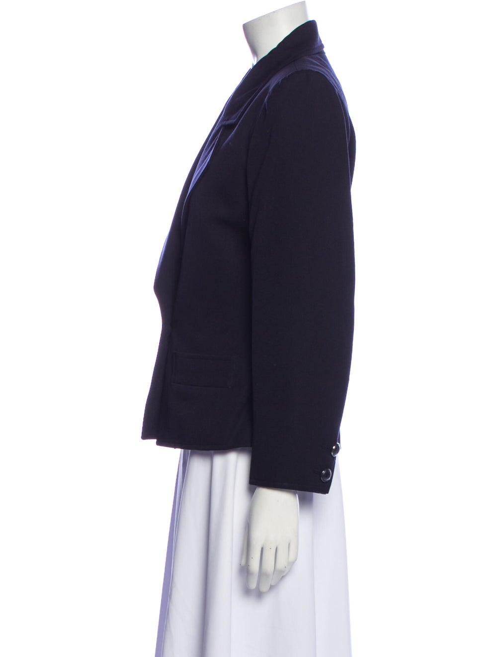 Yves Saint Laurent Rive Gauche Vintage Blazer Blue - image 2