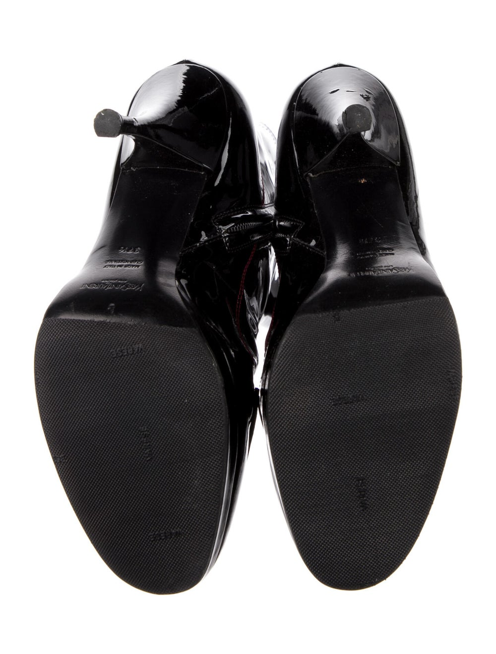 Yves Saint Laurent Rive Gauche Patent Leather Boo… - image 5