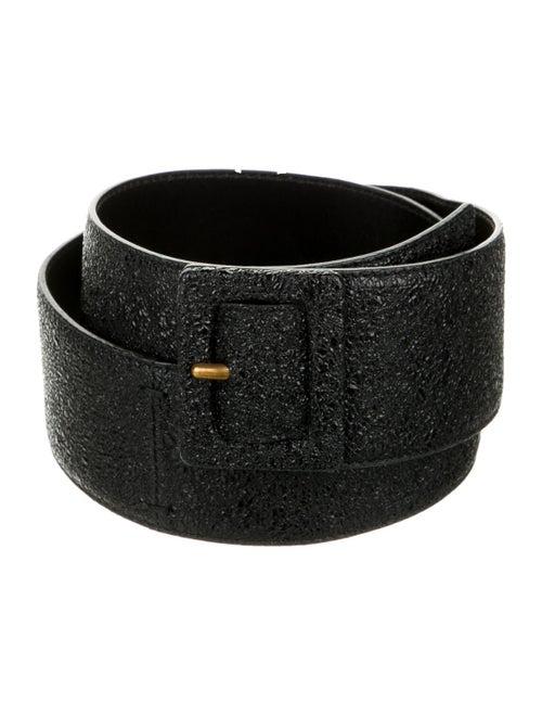 Yves Saint Laurent Rive Gauche Wide Leather Belt … - image 1