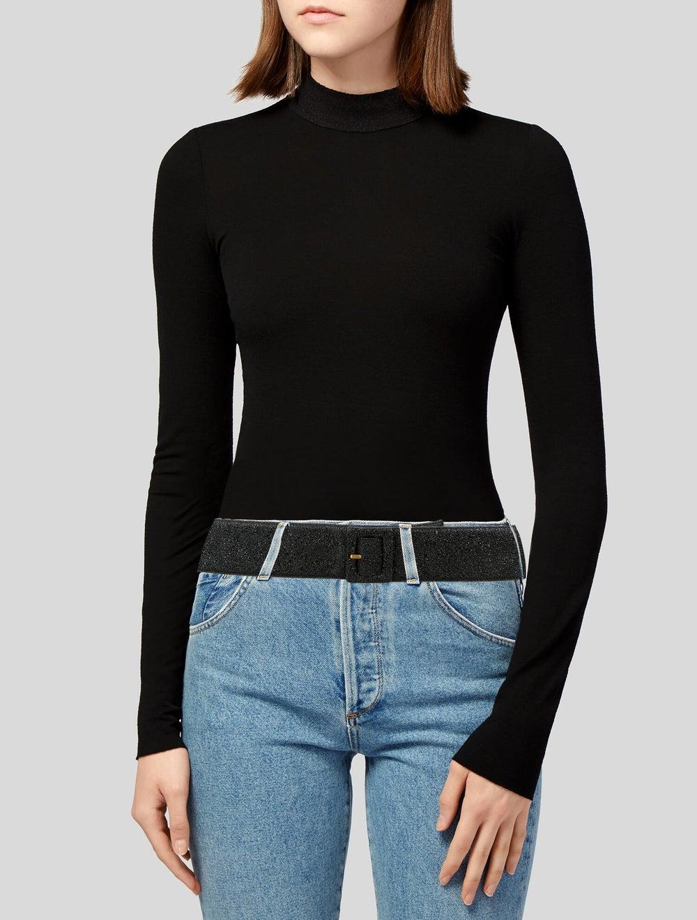 Yves Saint Laurent Rive Gauche Wide Leather Belt … - image 2