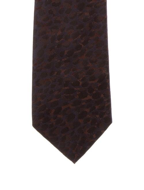 Yves Saint Laurent Rive Gauche Silk Tie brown - image 1