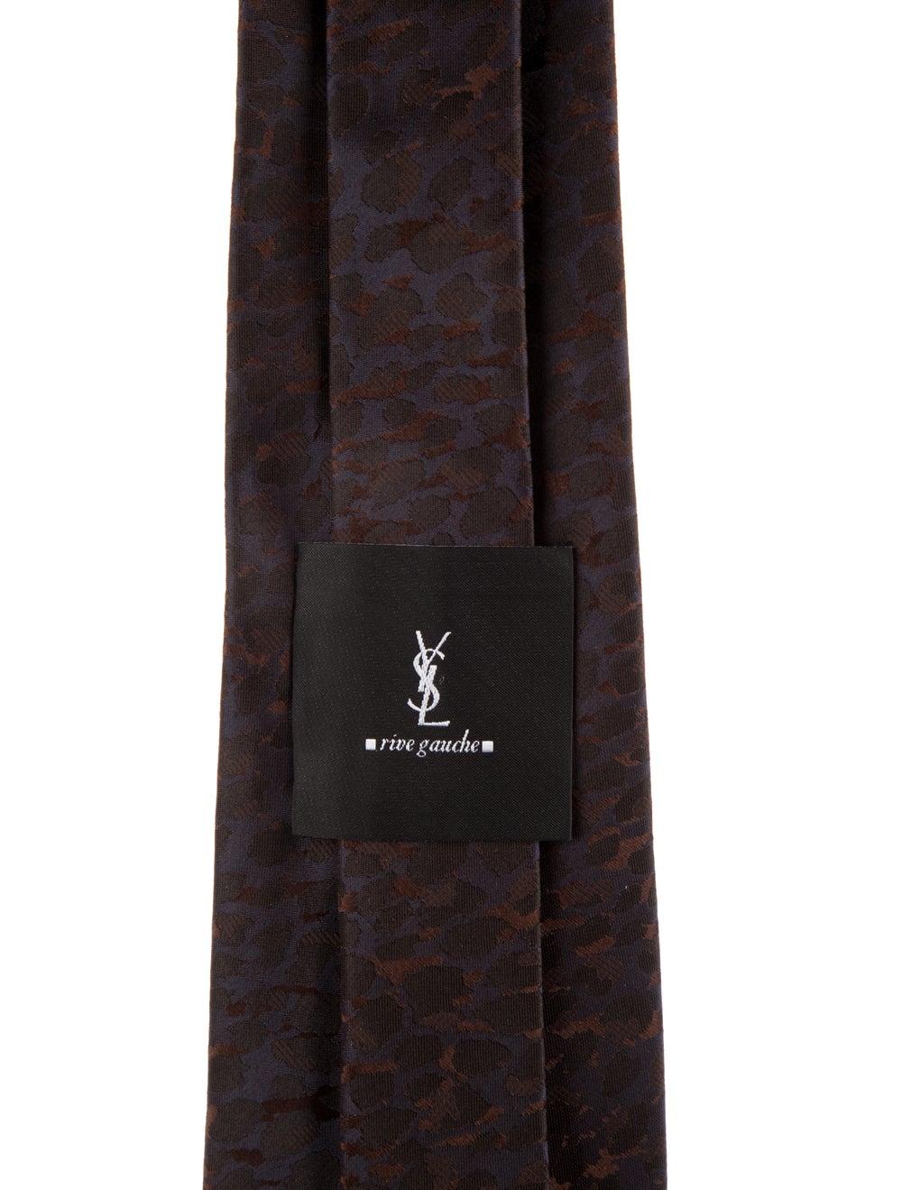 Yves Saint Laurent Rive Gauche Silk Tie brown - image 2