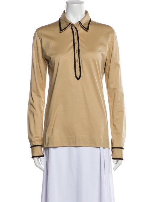 Yves Saint Laurent Rive Gauche Long Sleeve Polo