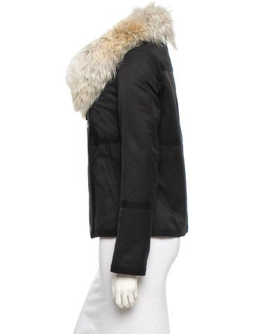 Army by  Fur Trim Jacket