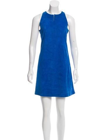 Yves Salomon Faux Suede Mini Dress