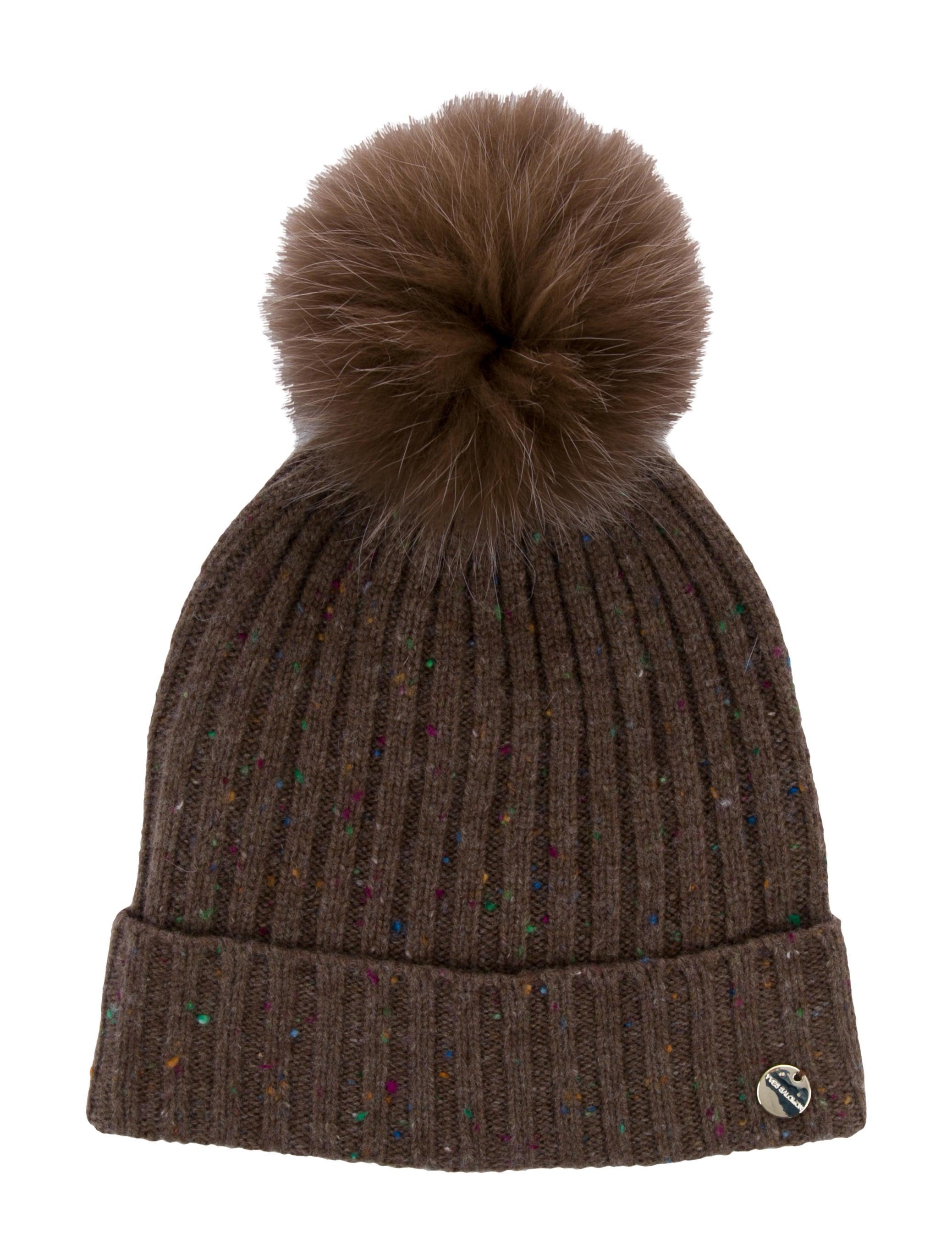 Yves Salomon Fox Fur Pom-Pom Beanie w  Tags - Accessories - YSN20752 ... 6dfc246d202