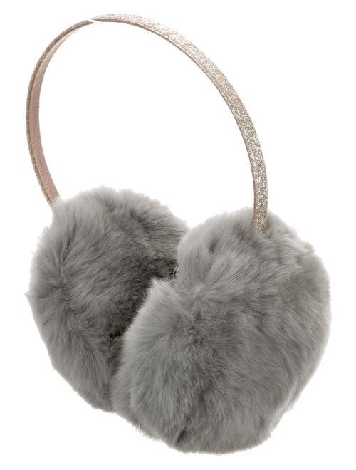 Yves Salomon Fur Earmuffs Grey