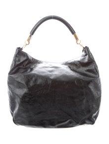 0131999edd5 Yves Saint Laurent. Patent Leather Roady Hobo