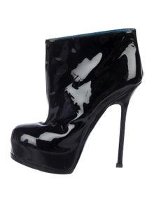 68eb5411193c Yves Saint Laurent. Patent Leather Booties