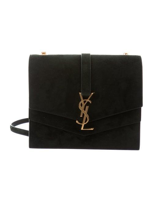 cfd02e39731 Yves Saint Laurent Montaigne Suede Double Flap Logo Shoulder Bag ...