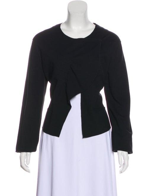 Yves Saint Laurent Textured Knit Cardigan Black