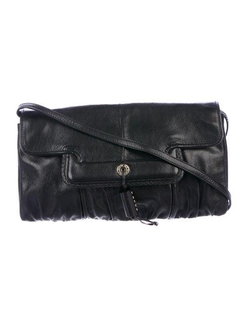 Yves Saint Laurent Leather Clutch Black