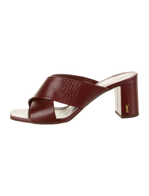 Yves Saint Laurent Leather Slides