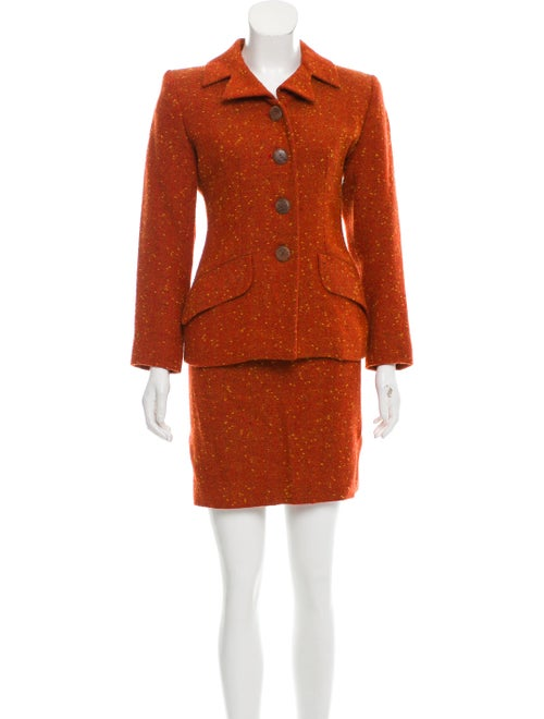 Yves Saint Laurent Skirt Suit Orange