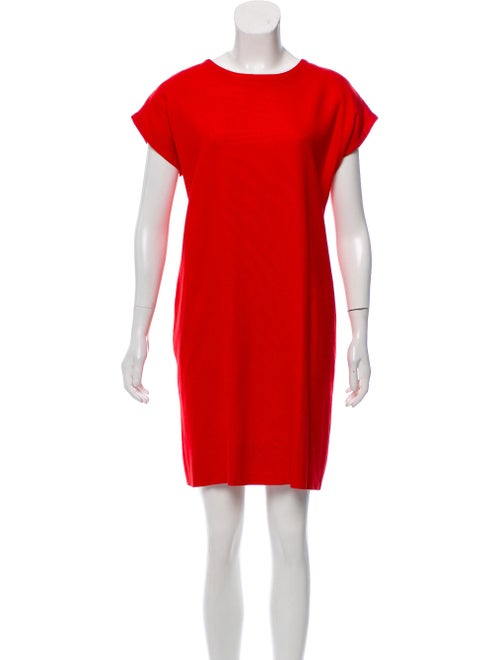 Yves Saint Laurent Crepe Tent Dress Red