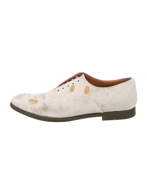 Yves Saint Laurent Distressed Derby Shoes white