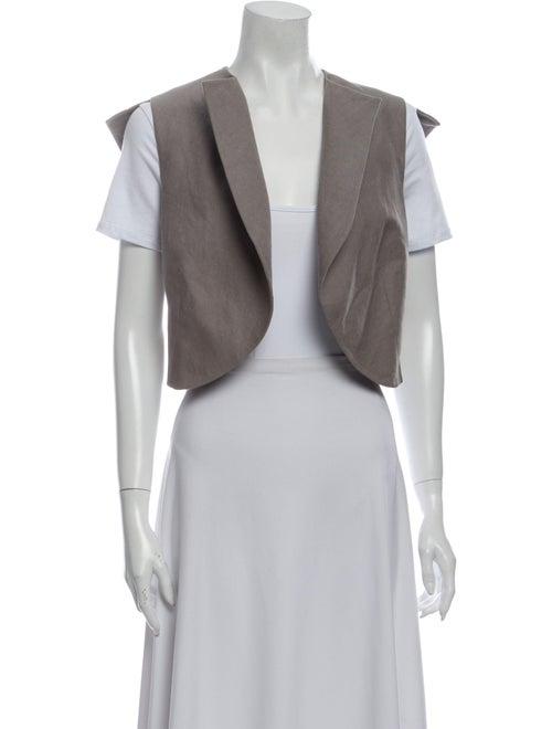 Yves Saint Laurent Linen Vest Grey