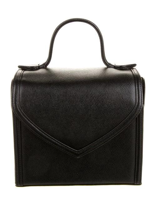Yves Saint Laurent Vintage Leather Handle Bag Blac