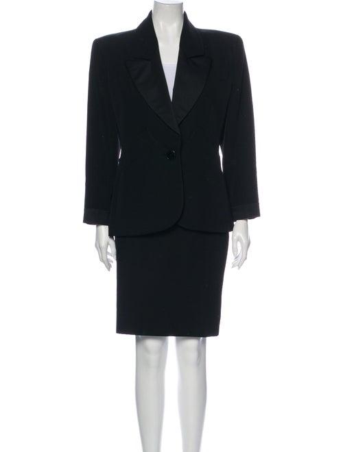 Yves Saint Laurent Wool Skirt Suit Wool