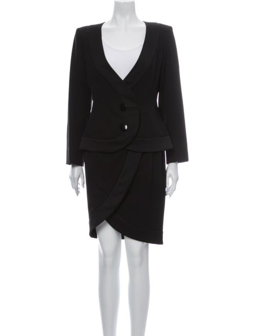 Yves Saint Laurent Vintage Skirt Suit Black - image 1
