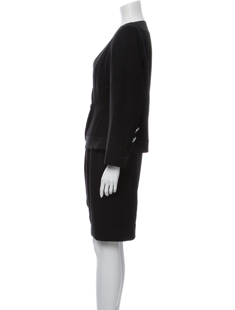 Yves Saint Laurent Vintage Skirt Suit Black - image 2