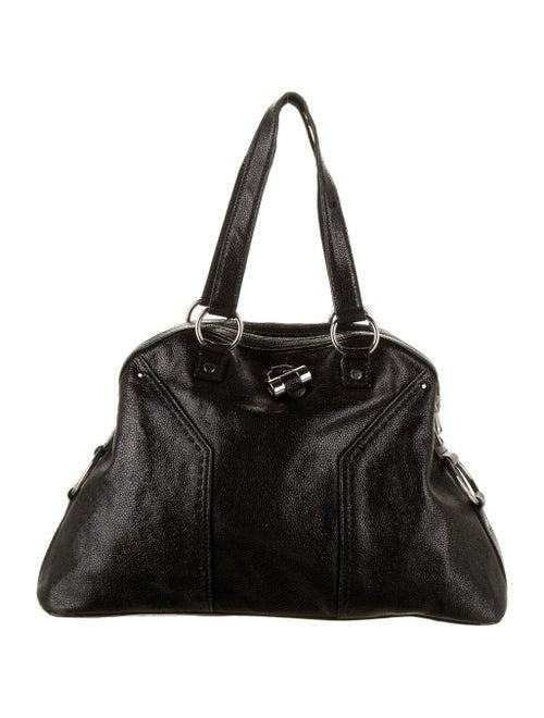 Yves Saint Laurent Leather Muse Bag Black