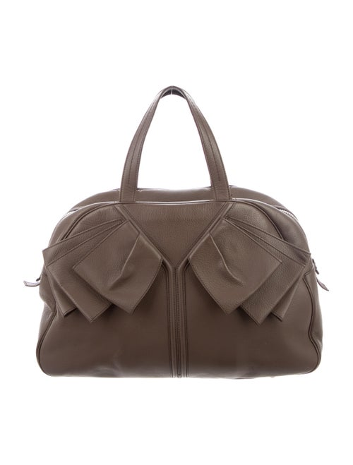 Yves Saint Laurent Leather Handle Bag Brown