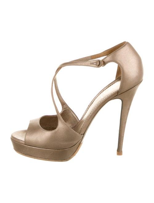 Yves Saint Laurent Leather Sandals Metallic