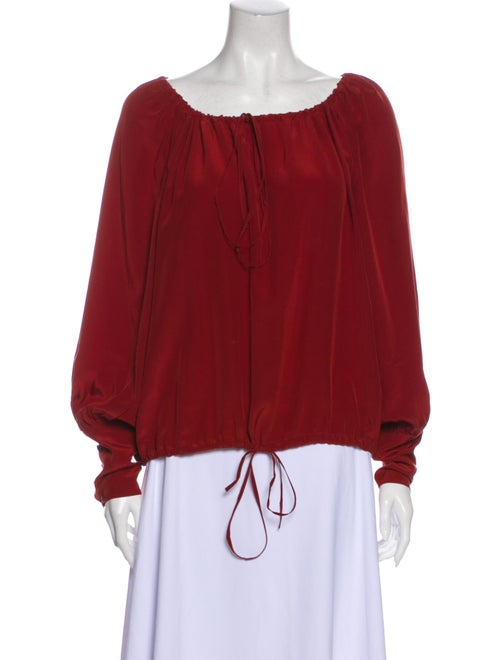 Yves Saint Laurent 2010 Silk Blouse Red