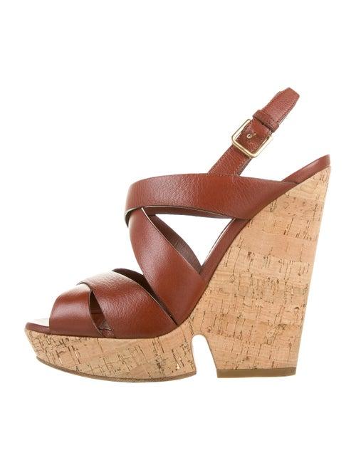 Yves Saint Laurent Leather Sandals Brown