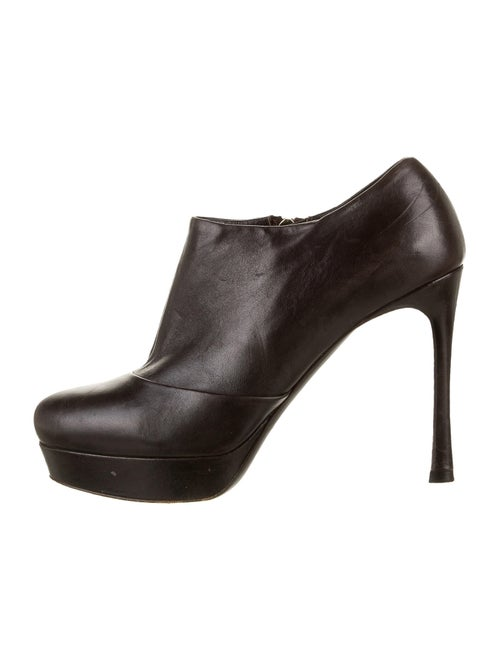 Yves Saint Laurent Leather Boots Brown