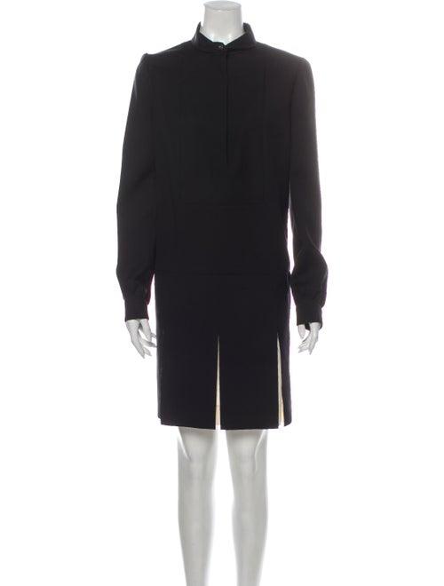 Yves Saint Laurent Wool Knee-Length Dress Wool