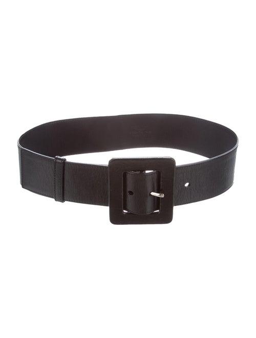 Yves Saint Laurent Leather Wide Waist Belt Black