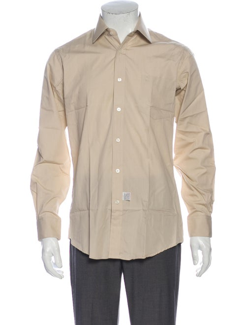 Yves Saint Laurent Long Sleeve Dress Shirt Brown