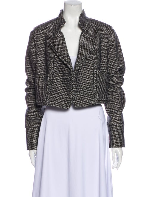 Yves Saint Laurent Wool Tweed Pattern Jacket Wool