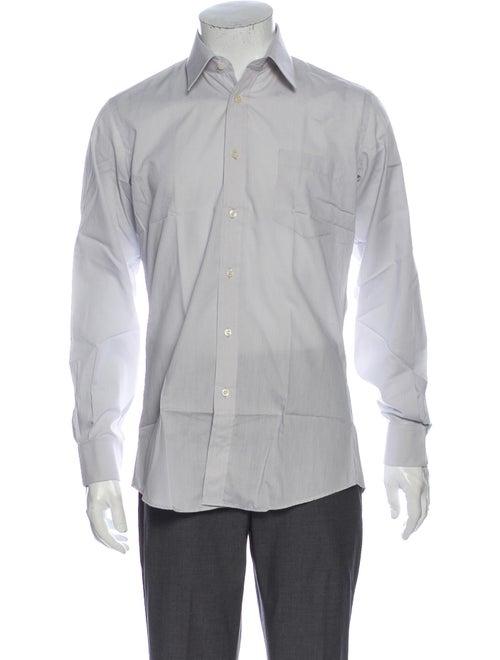 Yves Saint Laurent Long Sleeve Dress Shirt Blue