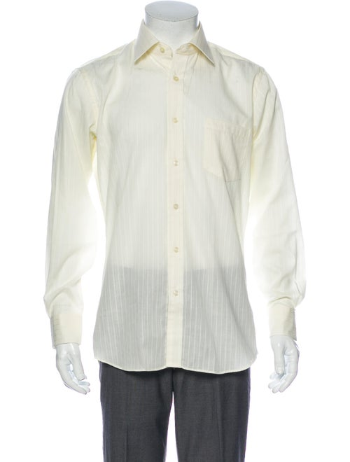 Yves Saint Laurent Long Sleeve Dress Shirt Yellow