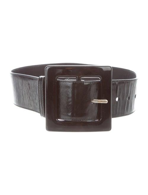 Yves Saint Laurent Patent Leather Wide Waist Belt