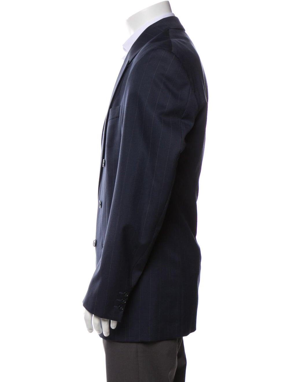 Yves Saint Laurent Vintage Wool Blazer Blue - image 2