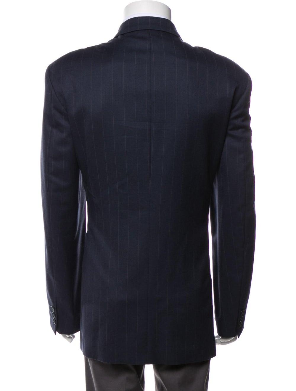 Yves Saint Laurent Vintage Wool Blazer Blue - image 3