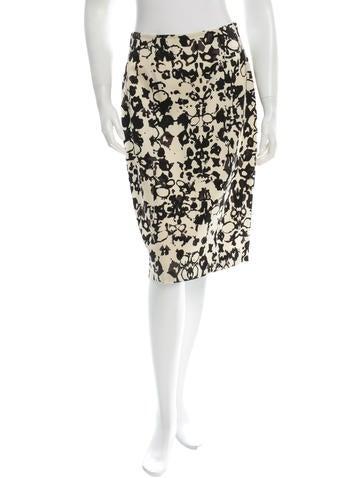 Splatter Print Wool Skirt