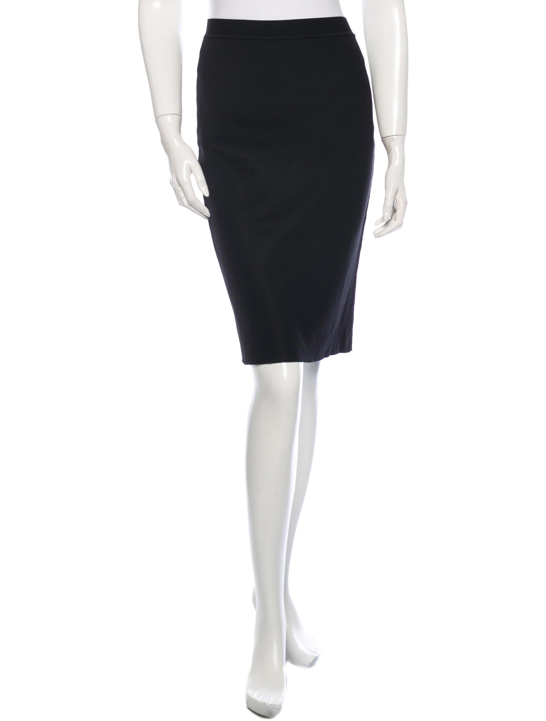 yves laurent stretch knee length skirt clothing