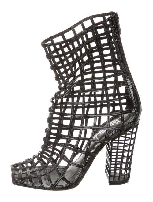 14d976045b4 Yves Saint Laurent Cage Peep-Toe Ankle Boots - Shoes - YVE41208 ...